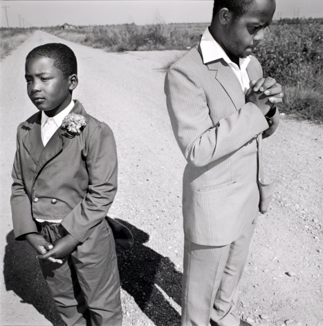 Brothers Going to Church, Tunica, Mississippi,1990, Silver Gelatin Photograph