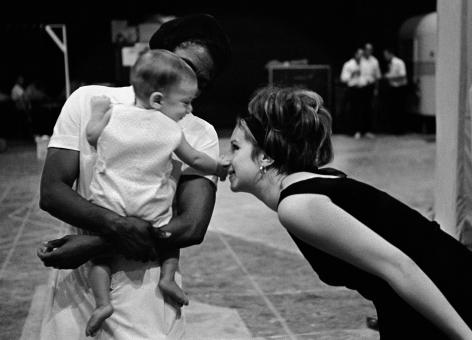Barbra Streisand and son, Jason on Set of Funny Girl, 1967, Silver Gelatin Photograph