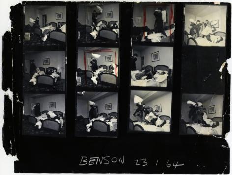 Harry Benson Beatles Pillow Fight, Paris (Contact Sheet), 1963