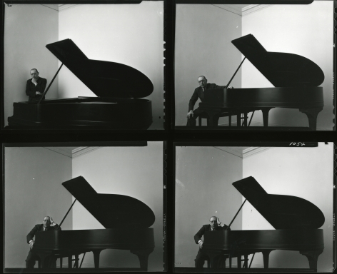 Igor Stravinsky, New York City (Contact Print of 4 Images), 1946