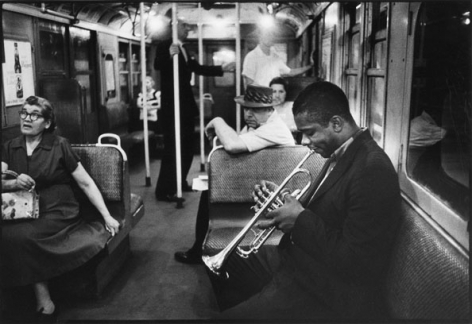 "Donald Byrd on the ""A"" Train, New York City, 1959, 11 X 14 Silver Gelatin Photograph, Edition of 25"
