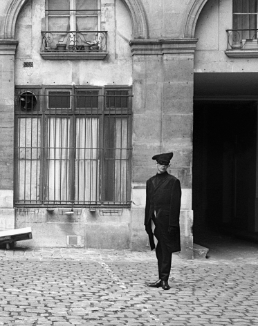 Masquerade Man in Courtyard, Paris, 1992, Archival Pigment Print