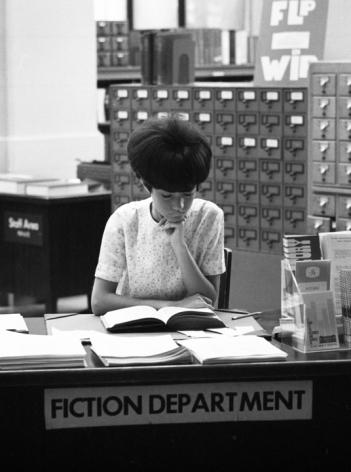 Fiction Department, Philadelphia Public Library, 1968, Silver Gelatin Photograph