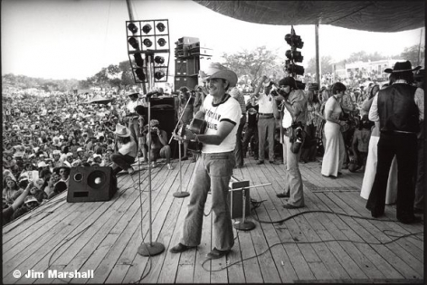 Willie Nelson (Performing on Stage), 1976, 11 x 14 Silver Gelatin Photograph