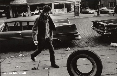 Bob Dylan (with Tire), New York City, 1963, 11 x 14 Silver Gelatin Photograph