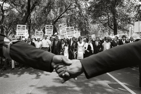 Jackie Robinson, Rosa Parks, and Other Activists March on Washington, 1963, 16 x 20Inches, Silver Gelatin Photograph, Edition of 25