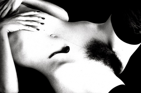 Untitled (Pipe on Nude with Stockings), 1991, 11 x 14 Silver Gelatin Photograph, Ed. 25