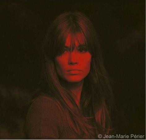 Françoise Hardy, red portrait, Paris, January 1967, C-Print