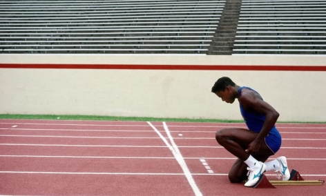 Carl Lewis, Team USA, training session, Houston, 1988, Archival Pigment Print