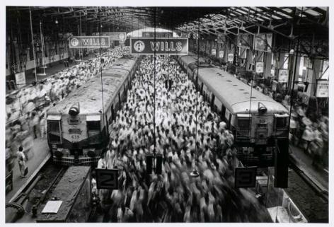 Church Gate Station, Western Railroad Line, Bombay, India 1990