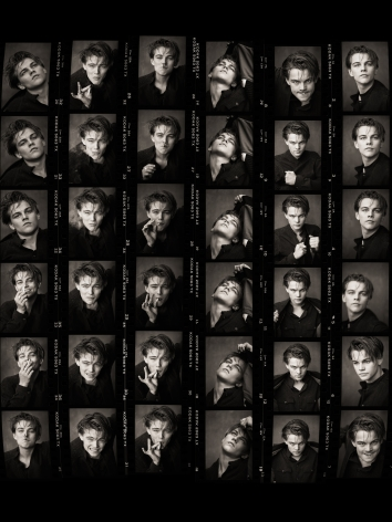 Leonardo Di Caprio (Contact Sheet), Los Angeles, 1994, Archival Pigment Print