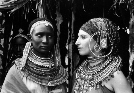 Barbra Streisand in Kenya, c. 1970, Silver Gelatin Photograph