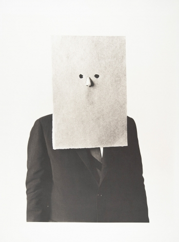 Saul Steinberg in Nose Mask, New York, 1966, Platinum Palladium Photograph, Ed. of 36