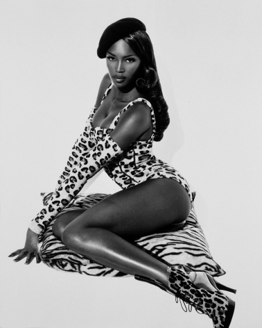 Naomi Seated, Hollywood, 1991, 24 x 20 Inches, Silver Gelatin Photograph, Edition of 25