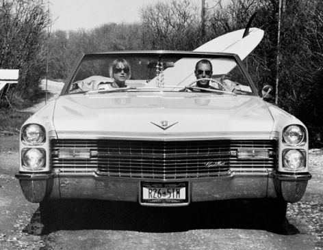 David and Pam in their Caddy, Trailer Park, Montauk, New York, 2002, 16 x 20 Silver Gelatin Photograph, Ed. 30