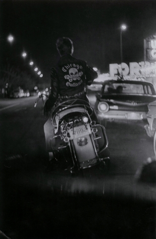 Copyright Danny Lyon / Magnum Photos, Benny at Grand and Division, from The Bikeriders, 1965