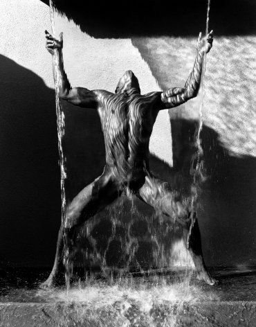 Waterfall II, Hollywood, 1988, 20 x 16 Inches, Platinum Photograph, Edition of 25