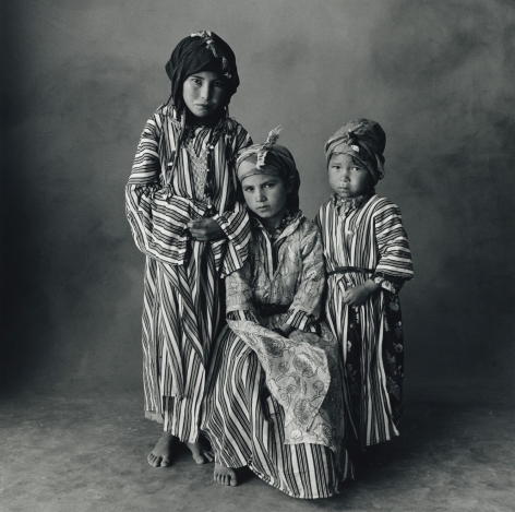 Three Young Girls, Morocco, 1971, Silver Gelatin Photograph, Ed. of 10