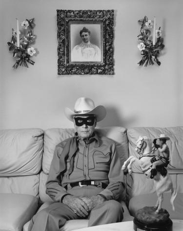 "Clayton Moore, The Original ""Lone Ranger"", Los Angeles,1992, Silver Gelatin Photograph"
