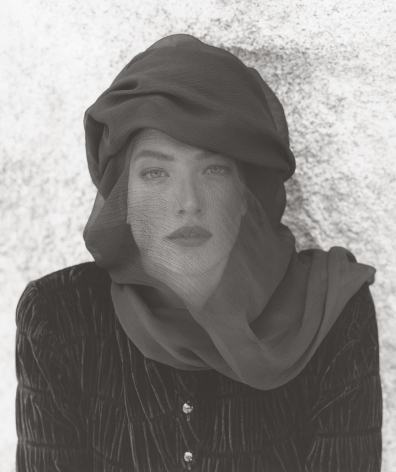 Tatjana Veiled Head, Joshua Tree (c), 1988, 14 x 11 Inches, Silver Gelatin Photograph, Edition of 4