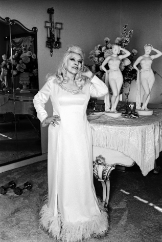 Mae West at home, Los Angeles, CA, 1969, Silver Gelatin Photograph