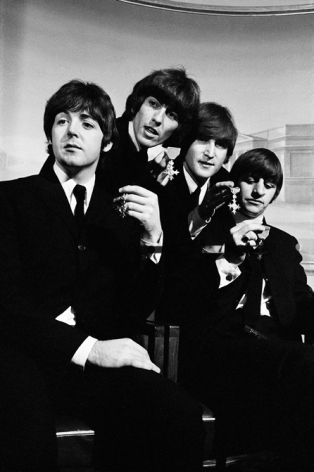 The Beatles with their MBE medals, Time Magazine, 1965, Silver Gelatin Photograph