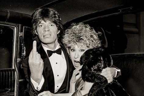 Mick Jagger & Bette Midler, New York City, 1983, Archival Pigment Print