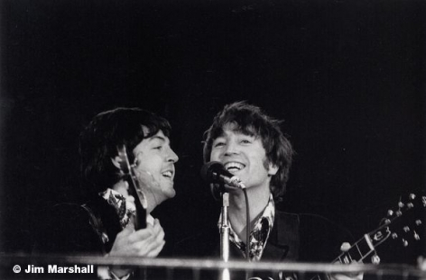 Paul McCartney and John Lennon (on Stage), Candlestick Park, San Francisco, 1966,