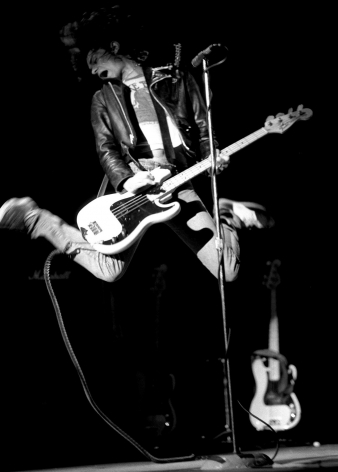 Dee Dee Ramone, Hammersmith Odeon, London, 1980, 20 x 16 inches - Archival Pigment Print - Edition of 50