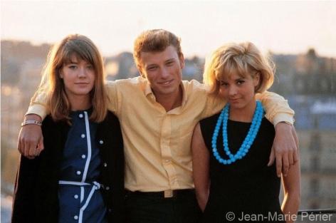 Françoise Hardy, Johnny Hallyday and Sylvie Vartan, Paris, April 1963, C-Print