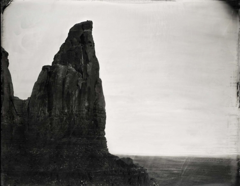 She Wore a Yellow Ribbon, Monument Valley, 2014, Unique Collodion Wet Plate