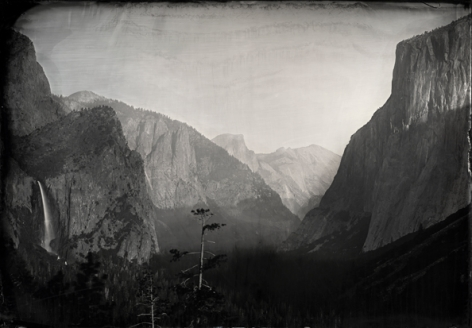 Tunnel View, Yosemite, Unique Collodion Wet Plate: please contact the gallery for details