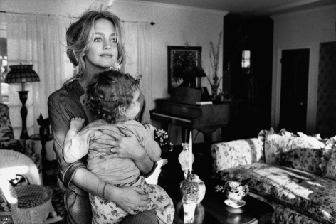 Goldie Hawn with son, Los Angeles, 1978, Silver Gelatin Photograph