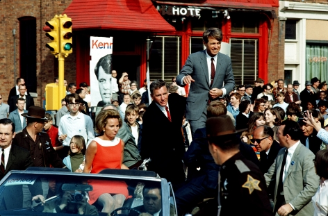 Robert Kennedy Campaigning in Indiana, 1968, Archival Pigment Print