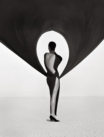 Herb Ritts Versace Dress, Back View, El Mirage, 1990