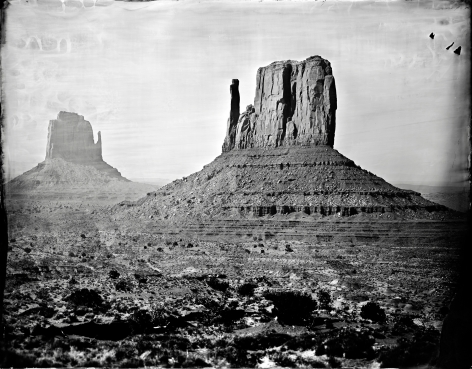 My Darling Clementine, Monument Valley, 2014, Unique Collodion Wet Plate
