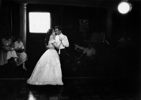 Elizabeth Taylor and Montgomery Clift rehearsing for a scene in Raintree County, Burbank, California, 1956