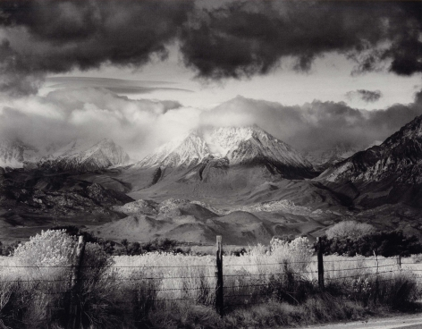Basin Mountain, Approaching Storm, 1973, 22 x 28 Inches, Silver Gelatin Photograph