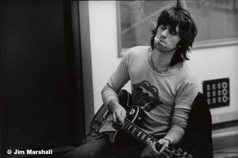 Keith Richards (Guitar), Los Angeles, 1972, 11 x 14 Silver Gelatin Photograph