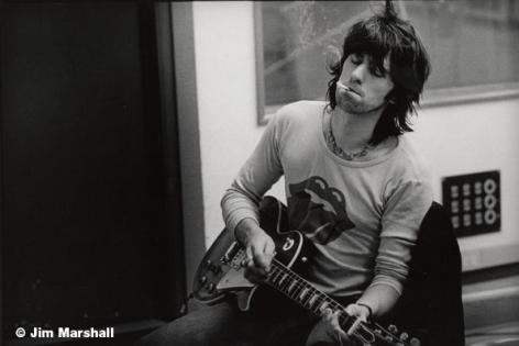 Keith Richards (Guitar), Los Angeles, 1972, 11 x 14 Silver Gelatin Photograph