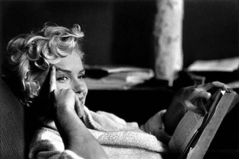 Marilyn Monroe (Reading Book), New York, 1956, 16 x 20 Silver Gelatin Photograph