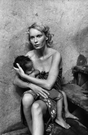 Mia Farrow, Bora Bora, 1978, Silver Gelatin Photograph