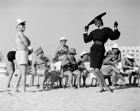 Isabelle Townsend with Miami Beachgoers, Miami Beach, French Vogue, 1987