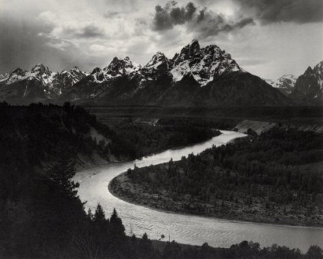 Ansel Adams The Grand Tetons and Snake River, Wyoming, 1942