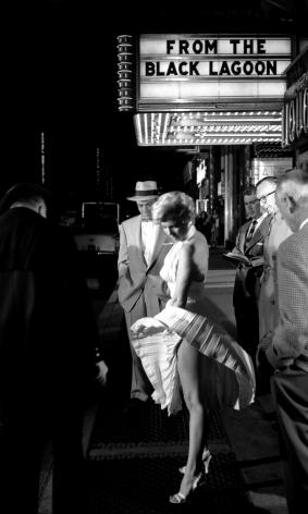Marilyn Monroe & The Black Lagoon, New York City, 1954, Silver Gelatin Photograph
