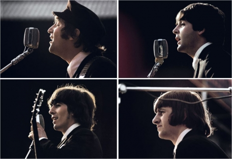 The Beatles on stage, photomontage, July 1965, C-Print