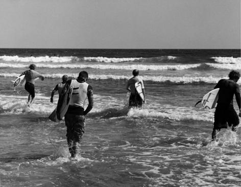 Ditch Plains Surf Contest, 16 x 20 Silver Gelatin Photograph