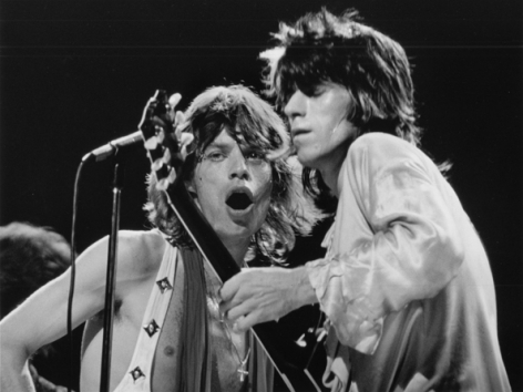 Rolling Stones, Mick & Keith, New York City, 1972, Silver Gelatin Photograph