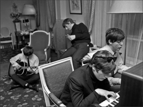 The Beatles Composing, George V Hotel, Paris, 1964