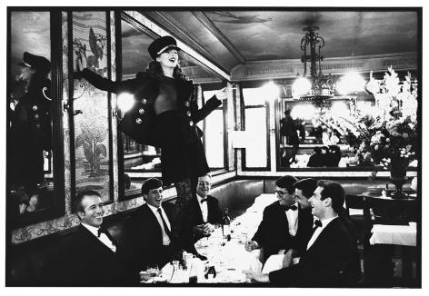 Arthur Elgort Kate Moss at Cafe Lipp (Horizontal), Paris, Vogue Italia, 1993